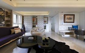 新古典灰色雅致客厅美图欣赏
