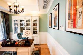 褐色新古典风格书房图片欣赏