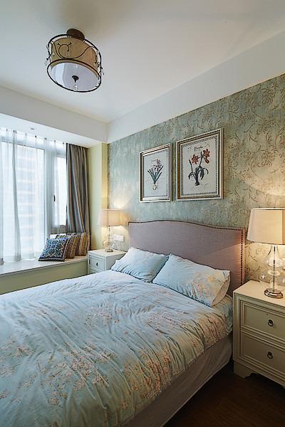 唯美舒适白色简欧风格卧室设计装潢