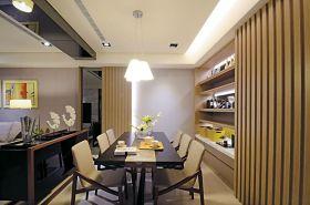 黄色简约风格餐厅收纳空间设计