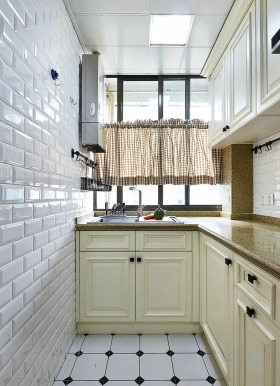 浪漫简欧风格白色厨房图片欣赏