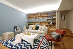优雅个性混搭文艺风格客厅设计效果图