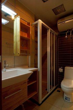 自然原木现代风格卫生间设计图片