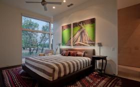 个性混搭风格米色卧室设计图