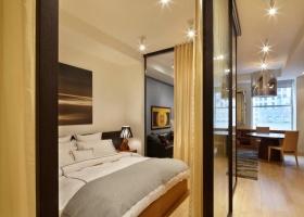 黄色现代风格卧室隔断效果图欣赏