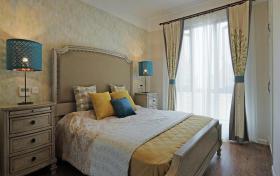 黄色东南亚风格卧室美图欣赏