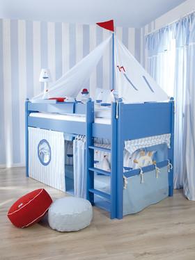 蓝色地中海风格儿童房装修设计