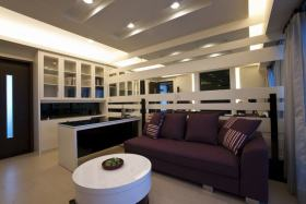 米色现代风格客厅沙发装饰案例