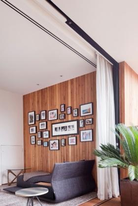 混搭时尚照片墙装修美图欣赏