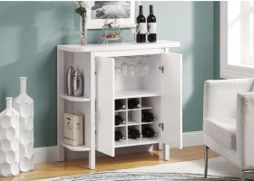 白色精致简约风格酒柜装修效果图片