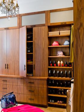 自然简欧混搭风格鞋柜设计案例