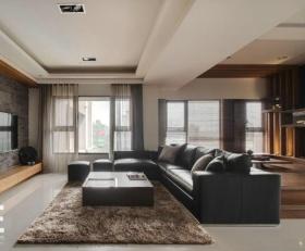 日式混搭米色吊顶设计装潢