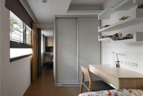 灰色雅致时尚简约风格卧室衣柜图片