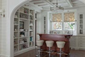 浪漫田园风格厨房吧台装潢装修案例