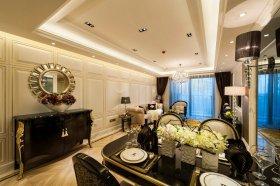 典雅复古黑色新古典风格餐厅图片欣赏