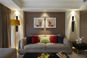 现代风格灰色时尚客厅设计装潢