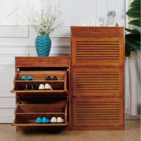 简约风格原木色鞋柜设计欣赏