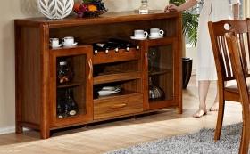 舒适清爽美式风格原木酒柜设计赏析