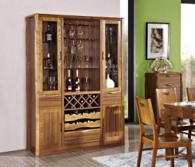 美式原木风格酒柜装饰案例