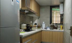 米色美式风格厨房图片欣赏