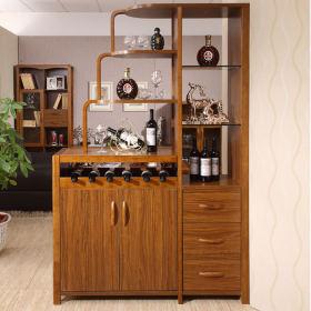 欧式风格原木色酒柜美图欣赏