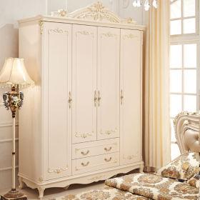 欧式风格浪漫白色衣柜设计图片