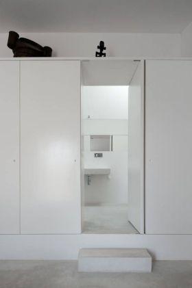 白色极致简约风格收纳柜设计装潢案例
