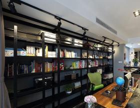 2016时尚现代黑色创意书房装修图片
