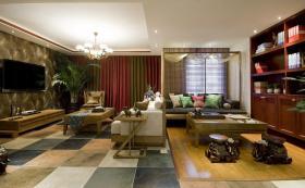 东南亚混搭风格客厅美图