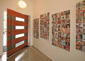 创意温馨混搭照片墙效果图欣赏