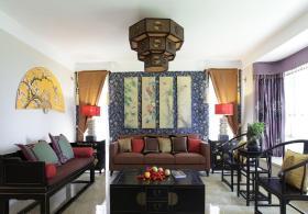 中式古典黑色客厅美图欣赏