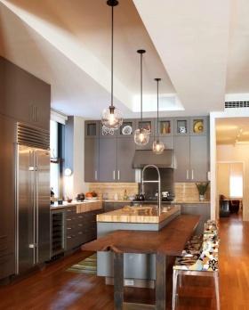 淡雅创意个性时尚混搭风格厨房橱柜装潢案例
