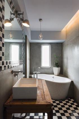 个性灰色宜家风格卫生间效果图欣赏