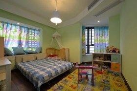 清新现代风格绿色儿童房装修案例