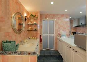 浪漫粉色田园风格雅致卫生间设计欣赏
