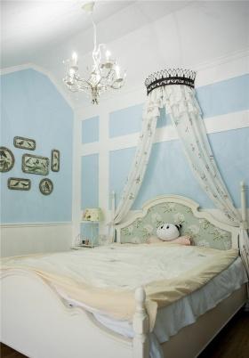 蓝色浪漫舒适田园风格儿童房设计图片
