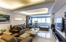 现代风格时尚米色客厅装修图片