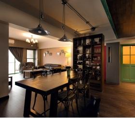 黑色复古现代餐厅美图欣赏