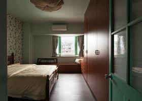 红色田园风格卧室装修图片