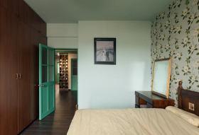 绿色唯美混搭风格卧室装潢案例