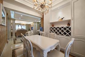 白色欧式风格餐厅酒柜设计