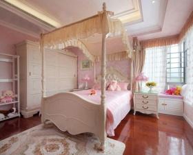 粉嫩浪漫田园风格卧室装潢