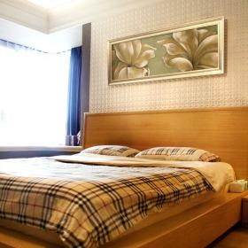橙色新中式风格卧室装修设计