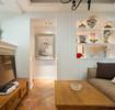 混搭风格客厅背景墙美图