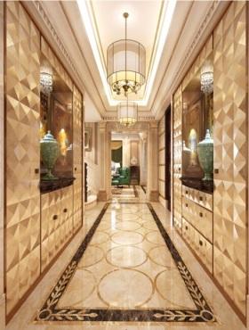 欧式黄色华丽过道装饰设计图片