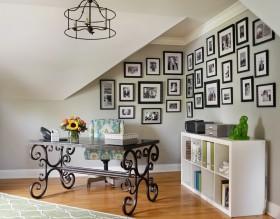 素雅精美混搭风格照片墙装饰设计图片