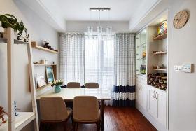 米色简约风格素雅餐厅窗帘装潢设计