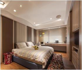 现代橙色时尚卧室效果图设计