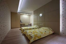 黄色日式风格儿童房榻榻米效果图欣赏