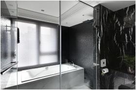 黑色雅致时尚现代卫生间图片赏析